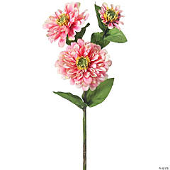 "Zinnia Spray X3 24""-Pink"