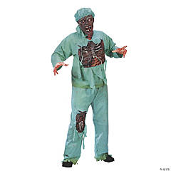 Zombie Doctor Plus Size Adult Men's Costume