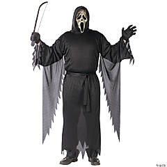 Zombie Ghost Face Plus Size Adult Men's Costume