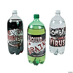 Zombie 2-Liter Drink Bottle Labels