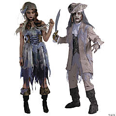 Zombie Pirate Couples Costumes
