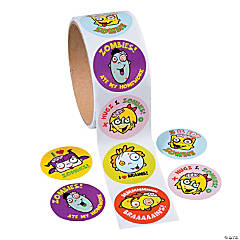 Zombie Roll of Stickers