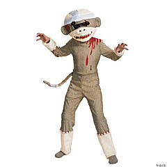 Zombie Sock Monkey Costume for Boys