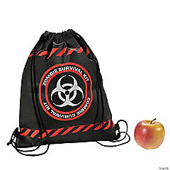 Zombie Survival Drawstring Backpacks
