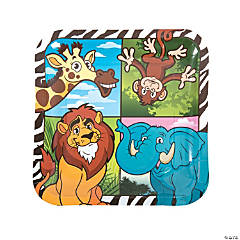 Zoo Adventure Paper Dinner Plates