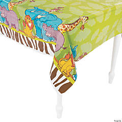 Zoo Adventure Plastic Tablecloth