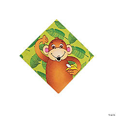 16 Zoo Animal Beverage Napkins