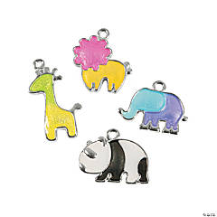 Zoo Animal Enamel Charms