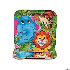 Zoo Animal Paper Dinner Plates