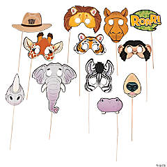 Zoo Animal Photo Stick Props