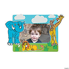 Zoo Animal Picture Frame Magnet Craft Kit