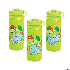 Zoo Animal Plastic Water Bottles