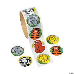 Zoo Animal Roll of Stickers