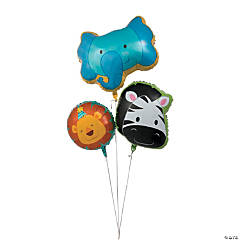 Zoo Birthday Mylar Balloons