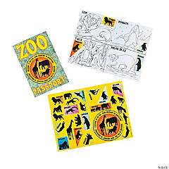 Zoo Passport Sticker Books