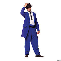 Zoot Suit Adult Blue Costume For Men