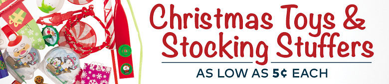 Christmas Stocking Stuffers & Toys - as low as 2 cents each