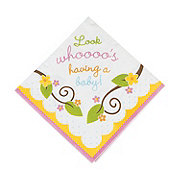 Quick View. Owl Baby Shower Luncheon Napkins