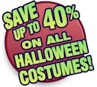 SAVE up to 40% on all Halloween Costumes