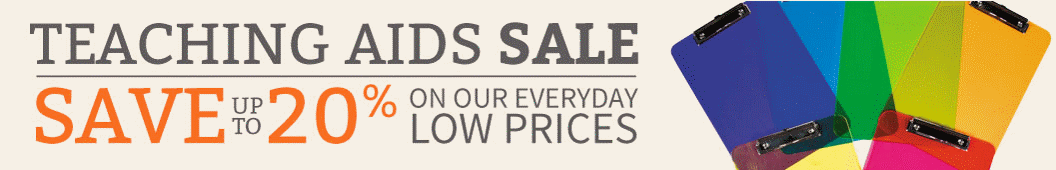 Teaching Aids Sale. Save up to 20% on our everyday low prices!