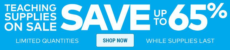 Teacher Supplies Sale - Up to 65% off