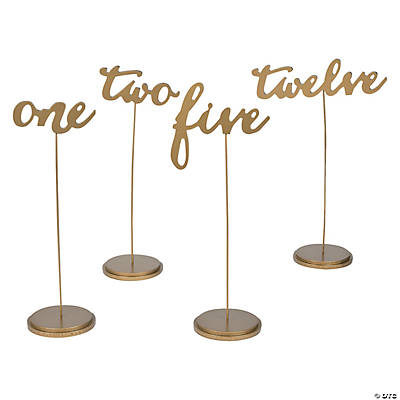 1 12 gold calligraphy table numbers