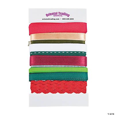 10 Pc Christmas Ribbon Assortment  Oriental Trading  Discontinued