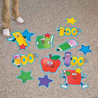 100th Day of School Floor Clings