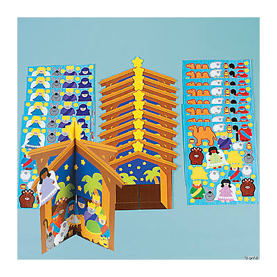 Design Your Own D Nativity Sticker Scenes Oriental Trading - Design your own stickers