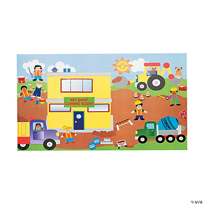 Design Your Own Giant Construction Site Sticker Scenes - Design your own stickers
