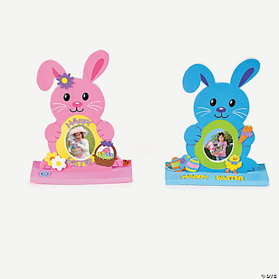 12 fabulous foam stand up easter bunny frames - Easter Frames