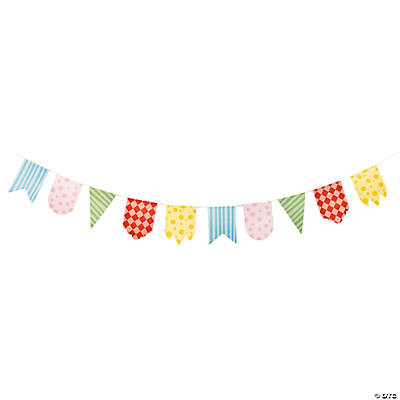 1st Birthday Circus Cardboard Pennant Banner