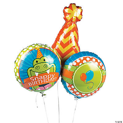 1st Birthday Little Alligator Mylar Balloons