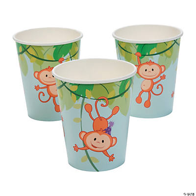 1st Birthday Zoo Paper Cups