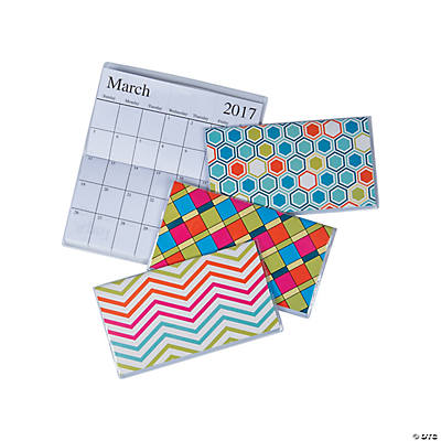 2017 - 2018 Basic Patterns Pocket Calendars