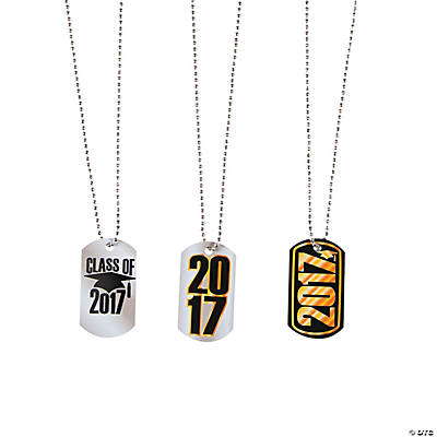 2017 graduation dog tag necklaces trading discontinued