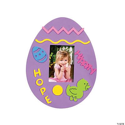24 fabulous foam easter egg frames - Easter Picture Frames