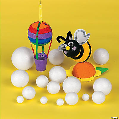 24 super styrofoam balls oriental trading discontinued for Crafts with styrofoam balls for kids