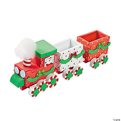 3D Christmas Train Craft Kit  Oriental Trading  Discontinued