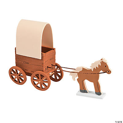 3d Covered Wagon Craft Kit Oriental Trading