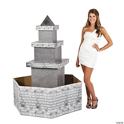 3D Parisian Water Fountain Cardboard Stand-Up
