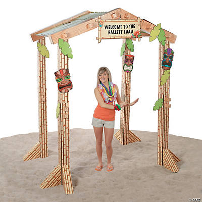 3D Tiki Hut Cardboard Stand-Up