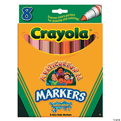 8 color crayola multicultural markers