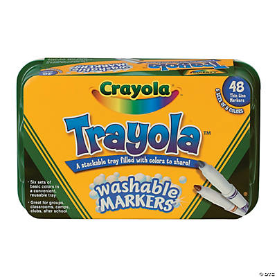 8-Color Crayola® Trayola™ Fine Tip Washable Markers