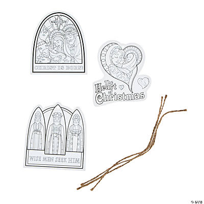 Color your own christmas gift tags adult color your own christmas gift tags negle Images