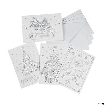adult coloring christmas cards