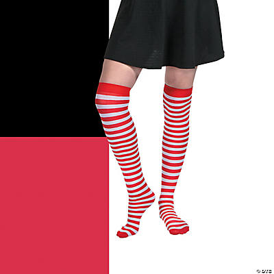 Adult's Striped Stockings