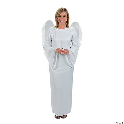 Adult's Angel Costume with Angel Wings & Candle