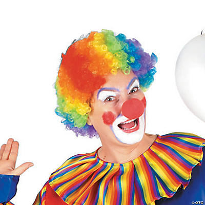 Adult's Rainbow Clown Wig