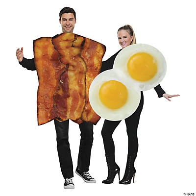 Adultu0027s Bacon and Eggs Couples Costumes  sc 1 st  Oriental Trading : places that sell halloween costumes  - Germanpascual.Com